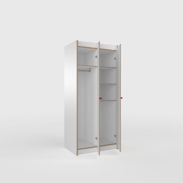 Möbel-Schränke-Designer Schrank Tojo-steh Grundmodul + 1x Anbaumodul,  MDF weiß.jpg